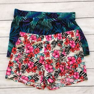 Lot of 2 Justice Rayon Colorful Shorts size 18